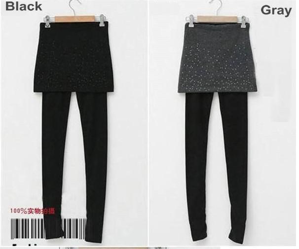 100% wol kasjmier dames dames nep mini rok leggings warme slanke stretchy panty's
