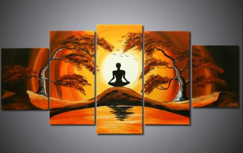 2019 Canvas Art Set Hand Painted Oil Painting African
