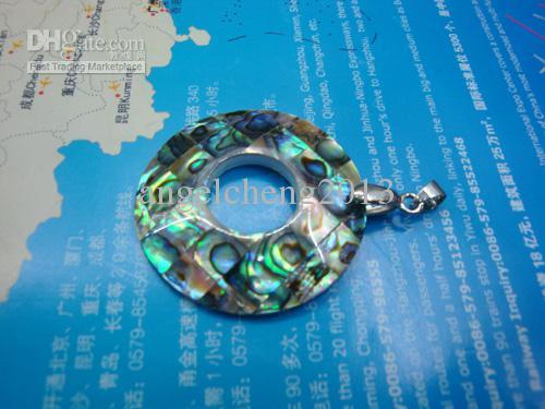 Ordre de mélange simple pendentif patchwork shell paua 72 PCS / lot