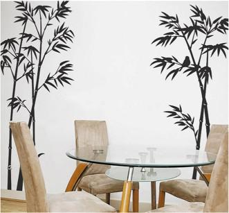 Black Wall Decals 24*36 black bamboo wall stickers tree sticker murals vinyl