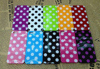 Wholesale Iphone5 Case Polka Dot - Wholesale - soft Polka Dots Silicone Rubber Cover back case for iPhone 5 iPhone5