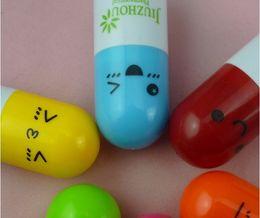Wholesale Pen Pills - South Korea stationery expression- 0.5mm Cartoon pill pen capsule ball-point pen Blue cartridge