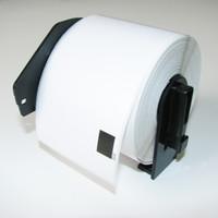 Wholesale Dk Rolls - 4 x Rolls DK-11202 with black plastic holder, Brother Compatible Labels, DK 11202, DK 1202