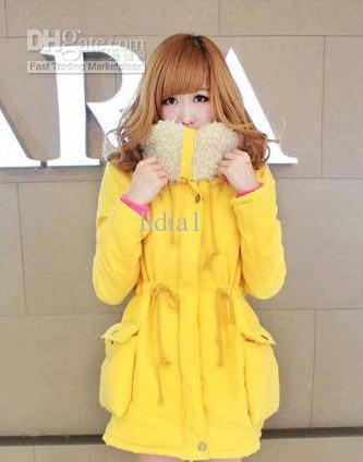 9908a64efbcb Wholesale - new Fashion 2013 female Korean girl winter yellow sweety Korean  Girls Winter Fashion 2013