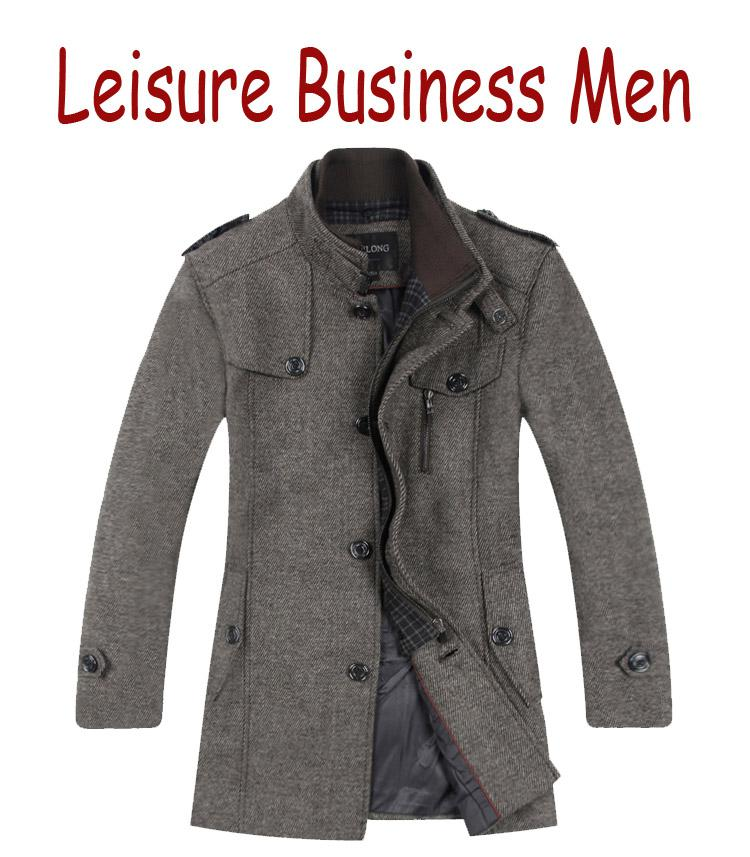 2017 Business Casual Mens Coats The New Wool Coats Single Breasted ...