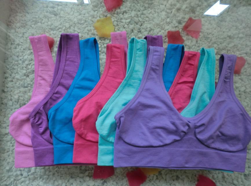 Alta qualidade 9 cores sem costura sutiã esportivo moda sexy sutiã yoga sutiã 6 fábrica diretamente vendas