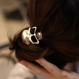 Wholesale Skull Hair Tie - New Fashion Hair Ties Skull Heads Metal Hair Band Girls' Hair Rope Retail & Wholesale