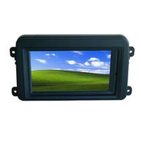 marco de 2din al por mayor-7 pulgadas del monitor LED de la pantalla táctil del coche de 2DIN con el marco de GOLF, monitor industrial de la PC, marco vw