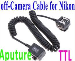 Telecamera ttl online-Aputure TTL Off-Camera Sync Remote Flash Cord per cavo Nikon 3M 3 metri