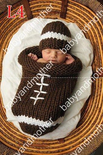 Crochet Baby Sleeping Bags Infant Sleep Cocoon+Hats Baby
