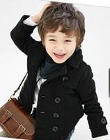 Wholesale Double Breasted Boys Suits - Wholesale - Double-breasted short coat children fashion suit 5pcs lot