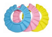 Wholesale Safe Shampoo Shower Cap - NEW Adjustable Safe Shampoo and Shower Bath Cap for Baby & kids 3 color