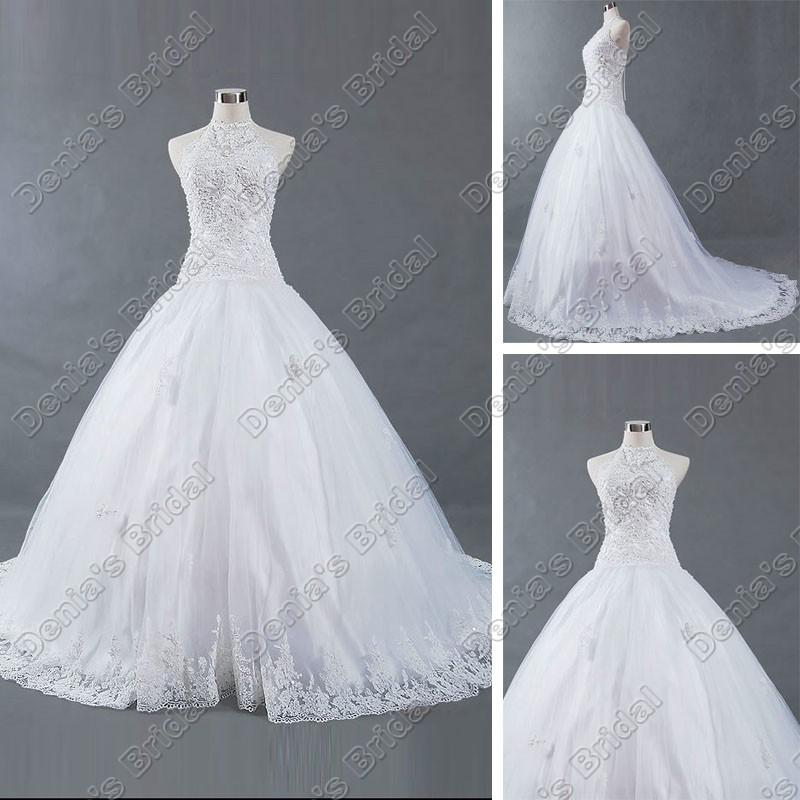 High Collar Corset Wedding Dresses