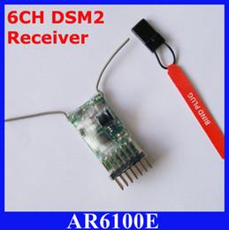 Wholesale 6ch Rc Receiver - AR6100E 2.4GHz 6CH RC Receiver for Spektrum JR(DSX7 DSX9 DSX11 DSX12 , DX6 DX6i DX7 DX8)