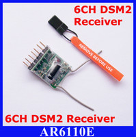 2Set / lot AR6110E 2.4GHz 6CH RC Receiver para Spektrum JR (DSX7 / DSX9 / DSX11 / DSX12, DX6 / DX6i / DX7 / DX8)