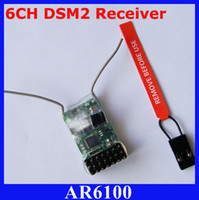 AR6100 Receptor compatível DX6i DX7 2.4GHz 6CH RC para Spektrum JR