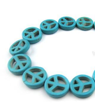 300pcs * 15mm diy 느슨한 구슬 액세서리 청록색 평화 느슨한 구슬 색상에서 선택할 수