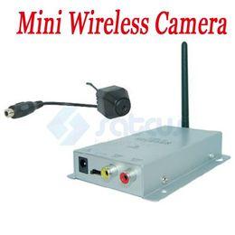 Wholesale Cctv Color Camera - Mini Pinhole Wireless CCTV Security Kit 1.2G Color CMOS CCTV Security AV Camera+Receiver