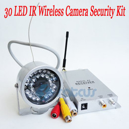 "Wholesale Nightvision Camera Kit - Most Cost-Effective Wireless Security Kit 30LED 1.2G Night Vision IR Color 1 3"" CMOS CCTV Camera"