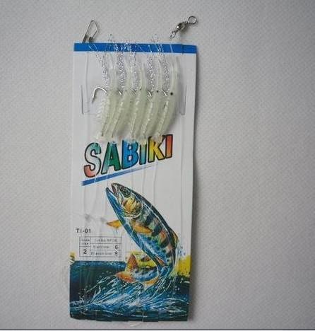 pesca resplandor camarones equipos de sabiki atraer srhimp