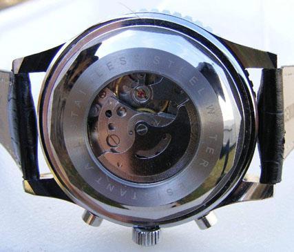 Nieuwe Jaragar Big Classic Merk Luxe Heren Lederen Duik Mechanical White Dial Swiss Mens Polshorloges