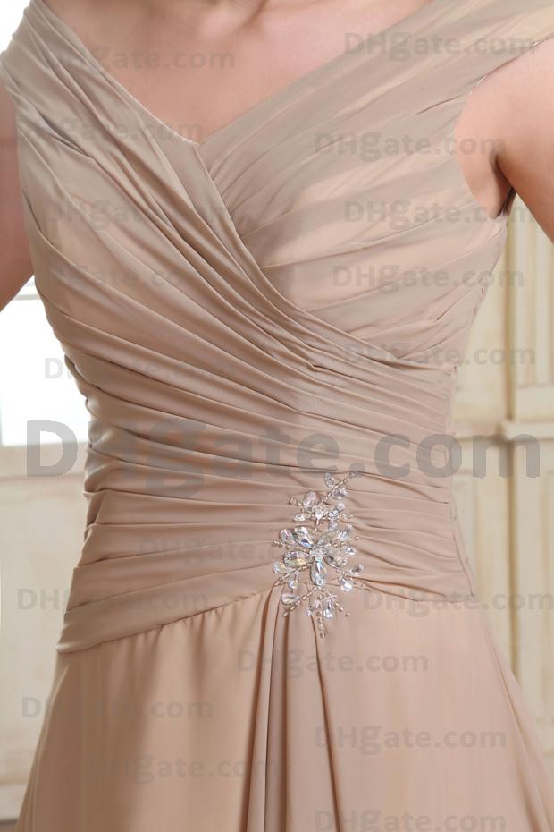 2017 mode av axelmor av bruden klänningar chiffong te längd verkliga aktuella bilder 9370