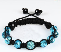 Wholesale Shambala Bracelets Macrame - Free shipping shamballa shambala bracelets Macrame disco ball pave beads crystal bracelets jewelry armband