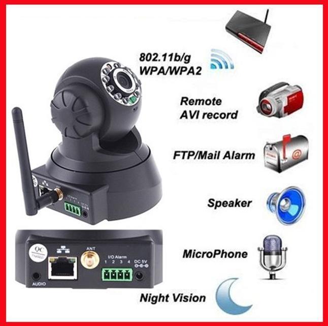 Wireless Ip Camera Wifi Network 10 Ir Leds Nightvision Cmos Sensor ...