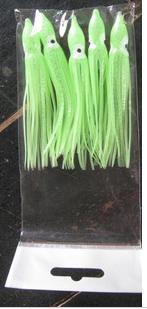 Señuelo de la falda del pulpo del calamar suave de la pesca de los 9cm los 12cm