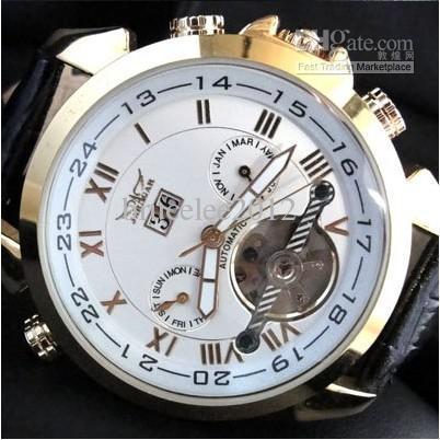os relógios mecânicos dos homens do desenhista do tourbillion do jaragar relógios inox automáticos automáticos dos relógios de pulso do mergulho dos homens