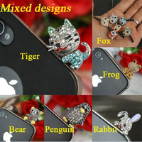 Wholesale Dust Plug Mix - Cell Phone Accessories Fashion Anti-dust Plugs Jewelry Mixed Style 30pcs lot Free Shipping