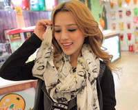 Wholesale Marilyn Scarfs - Fashion Marilyn Monroe Boutique Designs Long Silk Feel Chiffon Scarves , 12pcs lot free shipping