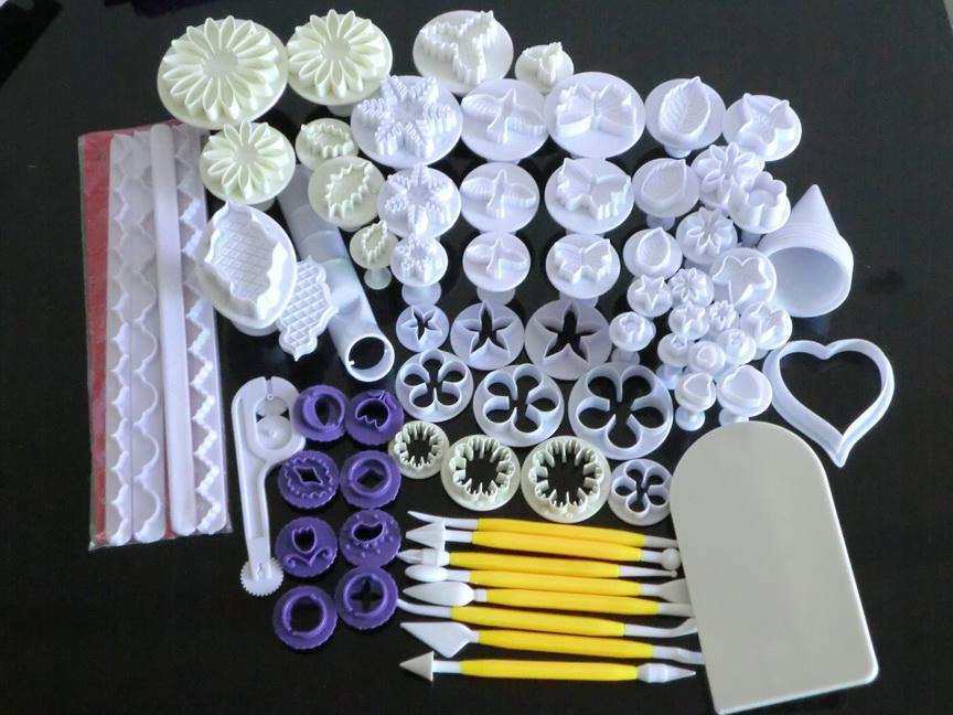 Groothandel Fondant Cake Cookie Sugar Flower Star Sugarcraft Tools Plunger Cutter Bakvormen Gereedschap C60