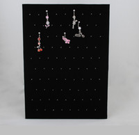 Wholesale Min order Black Velvet Clip On Body Piercing Display Pieces a pair