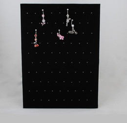 Wholesale Display Body Piercing - (Min. order $10) Free Shipping Black Velvet Clip On Body Piercing Display 2 Pieces (a pair)