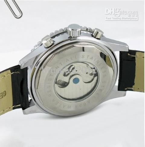 Jaragar stora män läder klocka mekanisk tourbillion dyk dag mode mens designer klockor presentförpackning