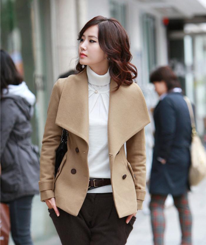 2018 Womens Coats Clothing Golilla Fashion Wool Coats Plus Big ...