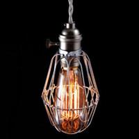 Wholesale Industrial Light Bulb Cage - Wholesale Industrial Cage Light Edison Vintage Chandeliers Ceiling Pendant lamp 40w bulb