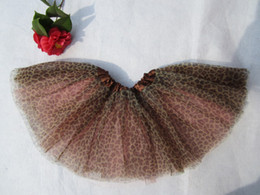 Wholesale Pink Cheetah - Free shipping kid cheetah with pink ballet short skirts tutu pettiskirt tutus for grils 40pcs lot