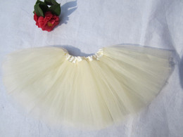$enCountryForm.capitalKeyWord Canada - Free shipping kid ivory ballet short skirts baby girl tutu pettiskirt tutus for grils 40pcs lot