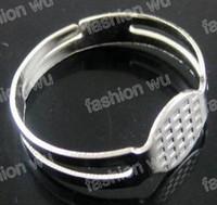 anillos bases al por mayor-Ajustable Anillo Redondo En Blanco Pad Base 8 MM MIC Lote 300 Unids Joyería DIY de moda artículo de la venta caliente
