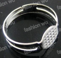 ingrosso moda anelli di moda-Articolo di vendita calda di modo dei gioielli DIY della base 8MM della base del cuscinetto dello spazio in bianco dell'anello rotondo di 300 pezzi DIY