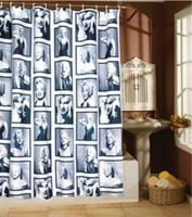 Wholesale Photos Marilyn Monroe - Marilyn Monroe bath shade, a lot of classical photos ,fashion shower curtain