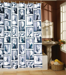 Wholesale Monroe Fashion - Marilyn Monroe bath shade, a lot of classical photos ,fashion shower curtain