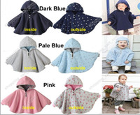 Wholesale Reversible Baby Capes - Baby Kid Toddler Infant Child Boy Girl Winter Reversible Thickening Hooded Cape Cloak Poncho Coat Hoodie Jacket Outwear