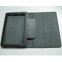 "Wholesale Haipad A13 Black - 100pcs 7"" flip leather case for Haipad Q88 Allwinner A13 tablet pc MID protect skin free shipping"