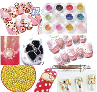 Wholesale Steel Beads Nail - Steel Bean Bead Acrylic Nail Art Decoration Caviar Nails