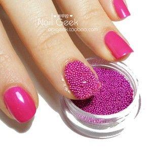 Grânulo De Aço Bead Acrílico Nail Art Decoração Caviar Nails Saúde Beleza Nail Art Salon Decorações Da Arte Do Prego