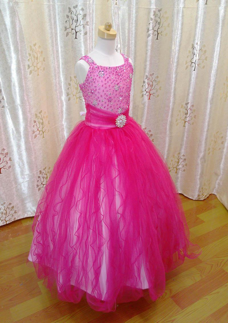 Flower Girl Pink Fuchsia Dress Fashion Dresses