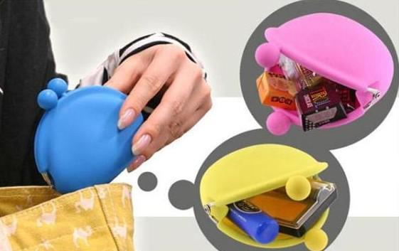 Silikon / handväska plånbok / geléfärg / mjuk plånbok / kosmetisk väska / jul godisväska 20st / parti